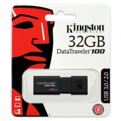 Pendrive Kingston 32GB DataTraveler 100 G3 - USB 3.0
